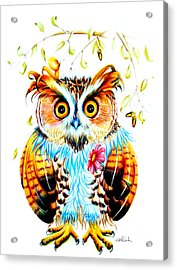 The Most Beautiful Owl Acrylic Print by Isabel Salvador