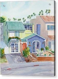 The Most Colorful Home In Belmont Shore Acrylic Print by Debbie Lewis