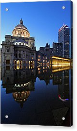 The Mother Church And The Pru Acrylic Print by Juergen Roth