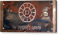 Acrylic Print featuring the mixed media The Mother's Garden by Shahna Lax