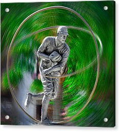 The Motion Of The Pitch Acrylic Print by Bill Cannon