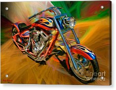 The Motorcyclerow Acrylic Print by Blake Richards
