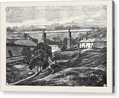 The Mottram Viaduct On The Manchester Sheffield Acrylic Print by English School