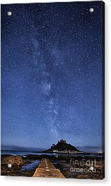 The Mount And The Milkyway Acrylic Print