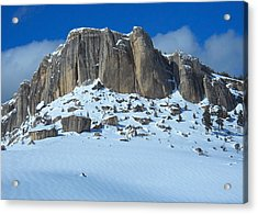 Acrylic Print featuring the photograph The Mountain Citadel by Michele Myers