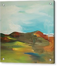 The Mountain Acrylic Print by Joseph Demaree