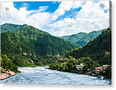 The Mountain Valley Of Rishikesh Acrylic Print
