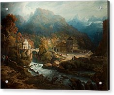 The Mountains Of Vietri Acrylic Print by Philip Reinagle