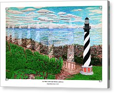 The Move Of The Cape Hatteras Lighthouse Acrylic Print by Frank Evans