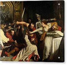 The Murder Of Rizzio, 1787 Oil On Canvas Acrylic Print
