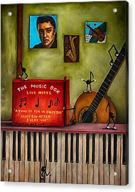 The Music Box Edit 3 Acrylic Print by Leah Saulnier The Painting Maniac