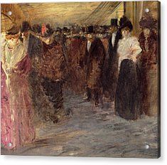 The Music Hall Acrylic Print by Jean Louis Forain