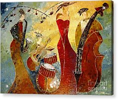 The Music Never Stopped Acrylic Print by AmaS Art