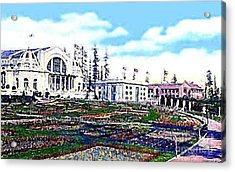 The Music Pavilion At The Alaska Yukon Expo In Seattle Wa In 1907 Acrylic Print by Dwight Goss