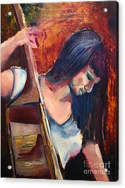 The Musician Acrylic Print by Michael Kulick