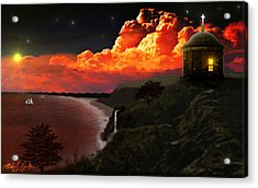 The Mussenden Temple - Ireland Acrylic Print by Michael Rucker