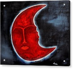 The Mysterious Moon - Original Oil Painting Acrylic Print