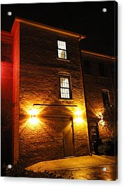 The Mysterious Stranger Upstairs Acrylic Print by Guy Ricketts