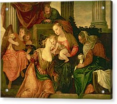 The Mystic Marriage Of Saint Catherine Acrylic Print by Veronese