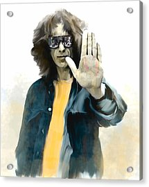 The Mystical One  George Harrison Acrylic Print by Iconic Images Art Gallery David Pucciarelli