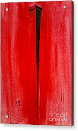 Acrylic Print featuring the painting The Nail by Justin Moore