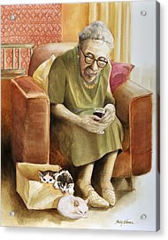 The Nanny Acrylic Print by Shelly Wilkerson