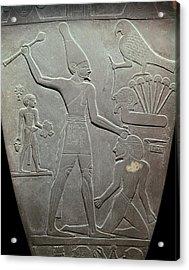 The Narmer Palette. 31st C. Bc. Reverse Acrylic Print by Everett