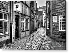 The Narrow Cobblestone Street Acrylic Print by Ari Salmela