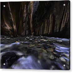 The Narrows At Zion National Park - 2 Acrylic Print by Larry Marshall