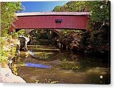 The Narrows Covered Bridge 1 Acrylic Print by Marty Koch