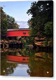 The Narrows Covered Bridge 5 Acrylic Print by Marty Koch