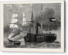 The Nashville Destroying A Federal Merchantman Acrylic Print by American School