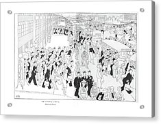 The National Capital  Homeward Bound Acrylic Print by Gluyas Williams
