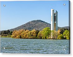 The National Carillon And Lake Burley Griffin - Canberra - Australia Acrylic Print by David Hill