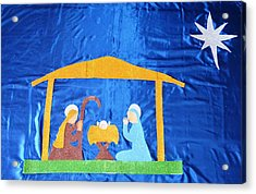 Acrylic Print featuring the painting The Nativity  by Magdalena Frohnsdorff