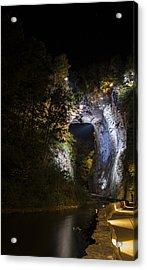 The Natural Bridge At Night  Acrylic Print