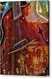 The Nature Of Music Digital Guitar Art By Steven Langston Acrylic Print by Steven Lebron Langston