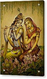 The Nectar Of Krishnas Flute Acrylic Print by Vrindavan Das