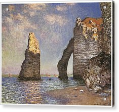 The Needle Etretat Acrylic Print by Claude Monet