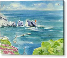 The Needles Isle Of Wight Acrylic Print by Geeta Biswas