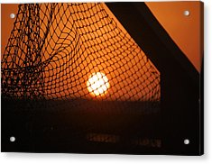 Acrylic Print featuring the photograph The Netted Sun by Leticia Latocki