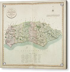 The New Map Of The County Of Sussex Acrylic Print