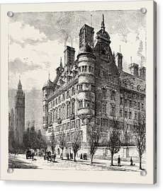 The New Police Offices On The Victoria Embankment Acrylic Print