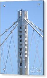 The New San Francisco Oakland Bay Bridge 7d25449 Acrylic Print by Wingsdomain Art and Photography