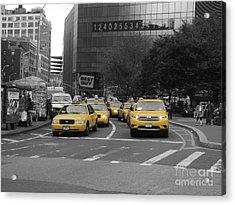The New York Cabs Acrylic Print