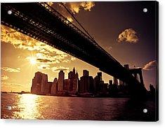 The New York City Skyline - Sunset Acrylic Print