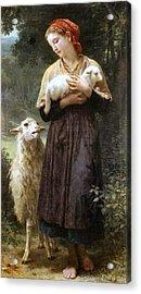 The Newborn Lamb Acrylic Print by William Bouguereau
