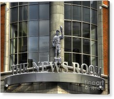 Acrylic Print featuring the photograph The News Room by Trey Foerster