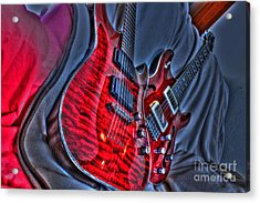 The Next Red Thing Digital Guitar Art By Steven Langston Acrylic Print by Steven Lebron Langston