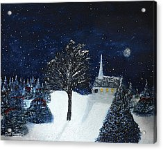 The Night Before Christmas Acrylic Print by Dick Bourgault